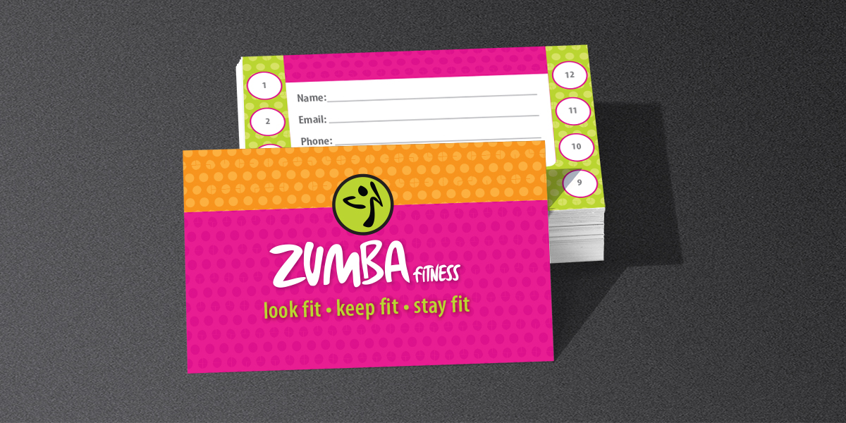 Zumba fitness cards designby project description reheart Choice Image