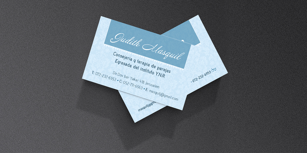 Couple Therapist Business Card Designby